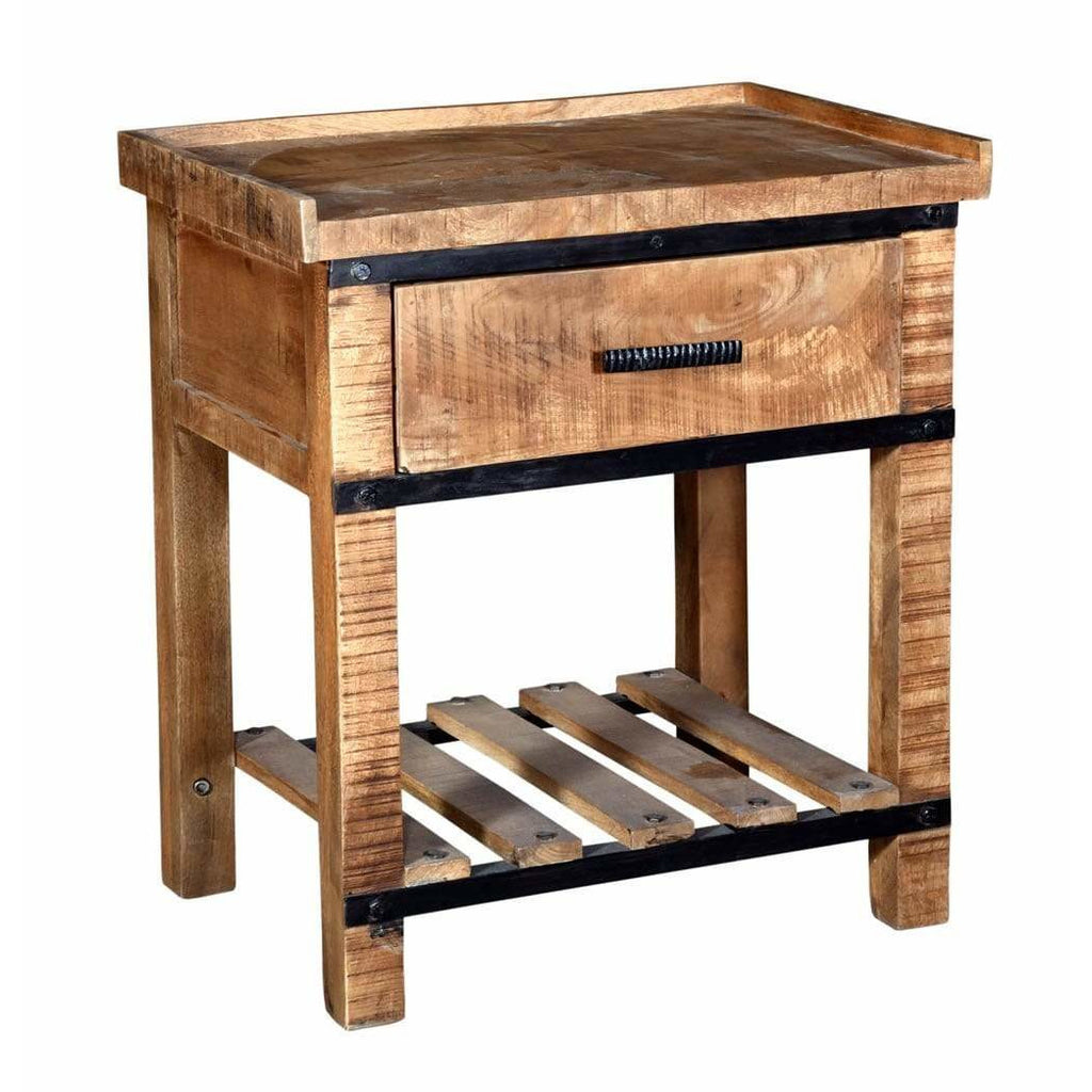 Sneha 1-Drawer Nightstand/Bedside Table - Modn City