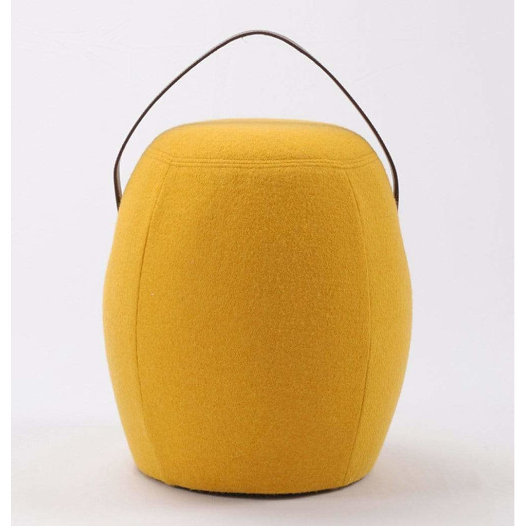 Kiley Handmade Pouf/Stool - Yellow - Modn City