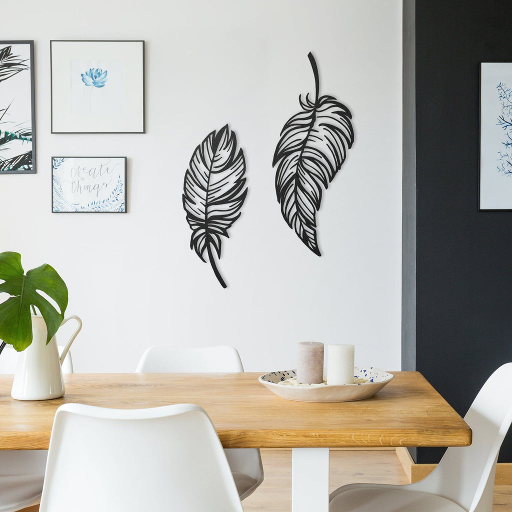 Feathers - Metal Wall Art - Modn City