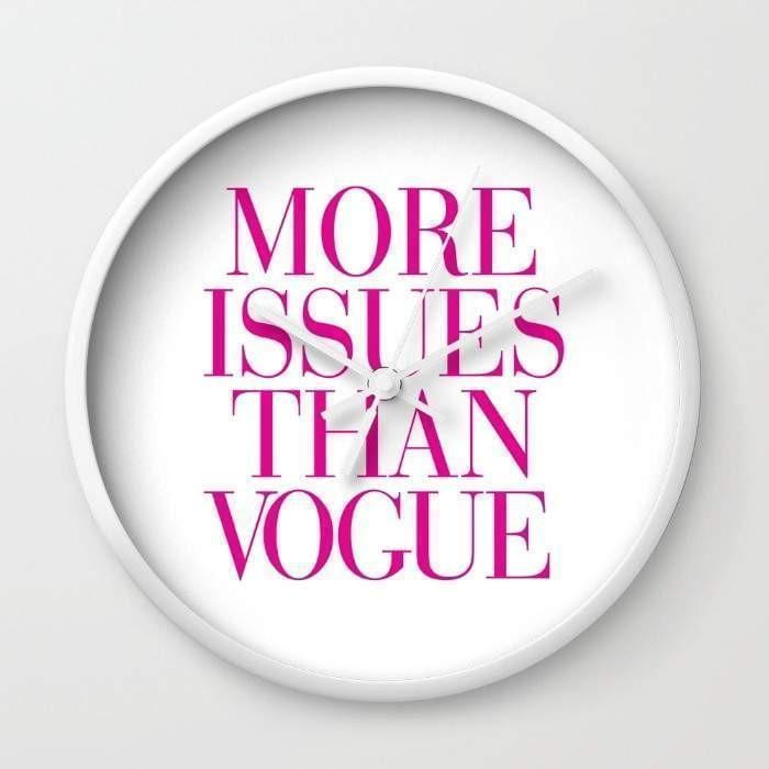 More Issues than Vogue Wall Clock - Modn City