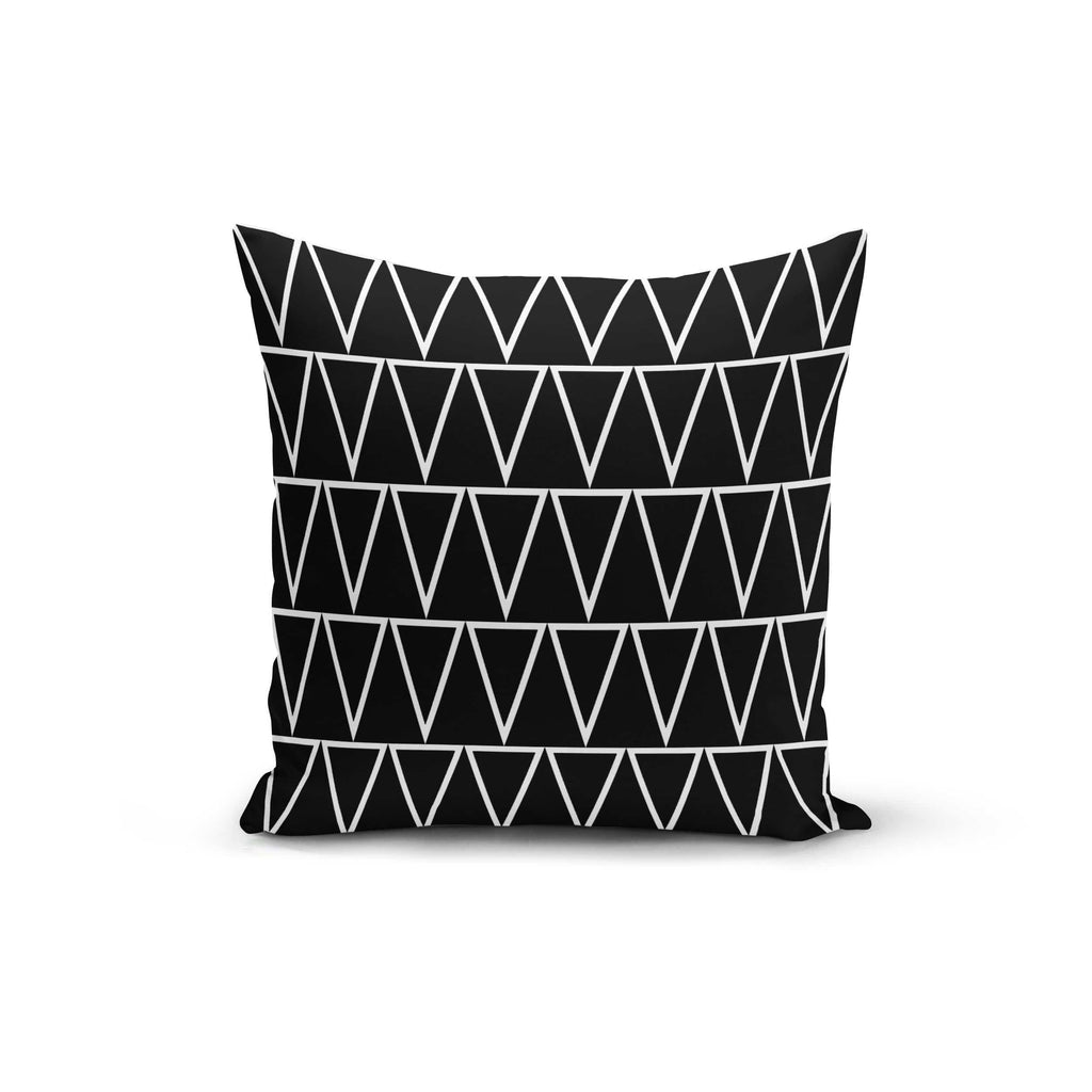 Black Triangles Pillow Cover - Modn City