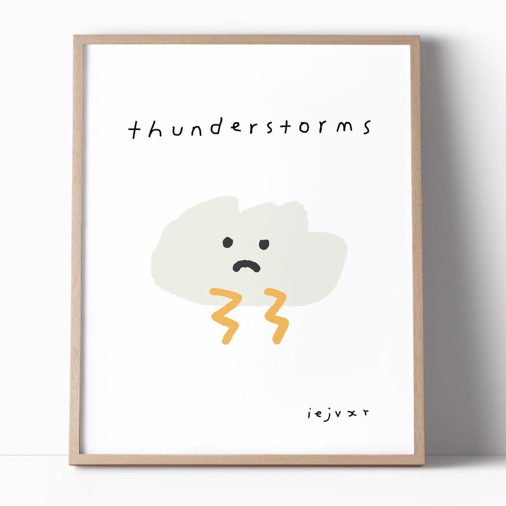 Thunderstorms Print - Modn City