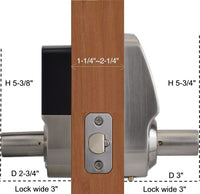 X3 Touchscreen Keyless Keypad Door Lock, Satin Nickel, Non Handed