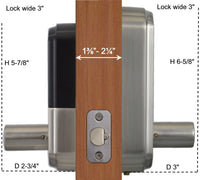 X5 Fingerprint Touchscreen Key Fob Door Lock with OLED Display