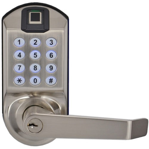 X7 Fingerprint Keypad Door Lock, Non-Handed, Satin Nickel, Non-Weatherproof