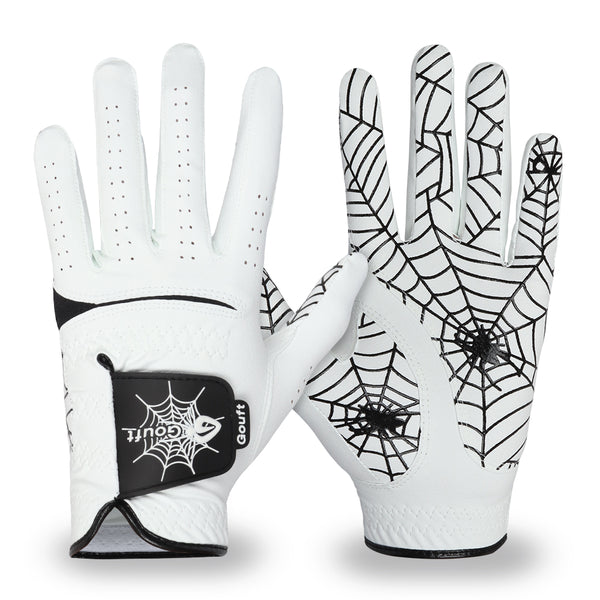 GOuft Spider Web Golf Glove White Edition- Black