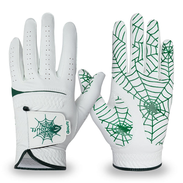 GOuft Spider Web Golf Glove White Edition- Green