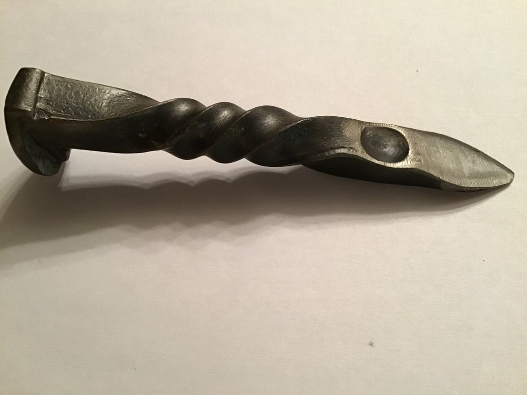 Oyster Knife made from railroad spike
