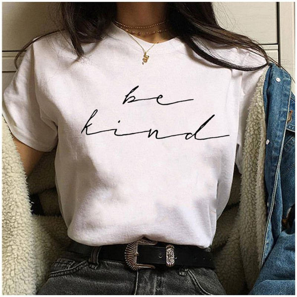 BE KIND PRINT SHORT SLEEVE T-SHIRT