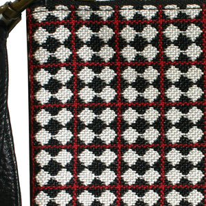 Pouch - Red, White & Black Allover