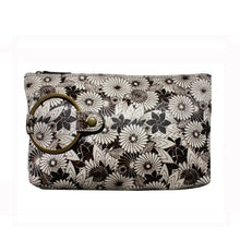 Load image into Gallery viewer, Ring Clutch - B&W Floral Printed Fur