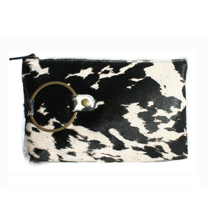 "Ring Clutch - Black & White ""Pony"""