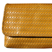 Load image into Gallery viewer, Baguette Clutch  - Yellow Basketweave