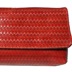 Baguette Clutch  - Red Basketweave