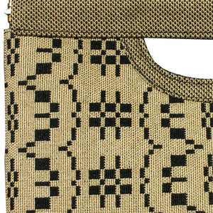 Cut-Out Clutch - Wheat Basketweave 1975