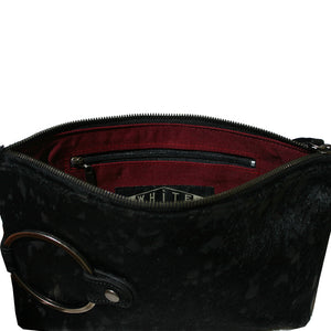 Ring Clutch - Black Fur