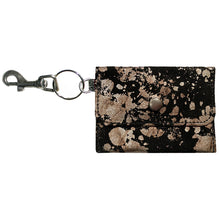 Load image into Gallery viewer, Coin Purse Key Chain - Black Metallic Splash