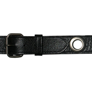 Grommet Belt - Black Antique Antique Nickel