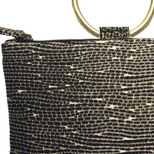 Load image into Gallery viewer, Ring Wristlet - Black & Gold Fancy