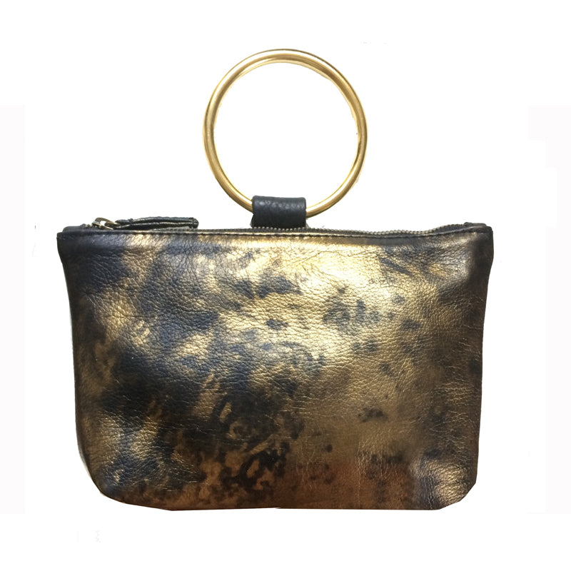Ring Wristlet - Black & Gold Smoke