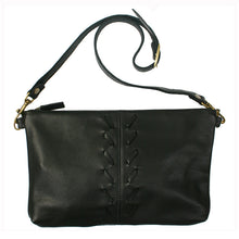 Load image into Gallery viewer, Laced Detail Bag  - Black Leather