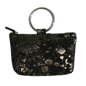 Ring Wristlet - Black Mudsplash