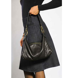 Slouchy Bag - Soft Black Leather