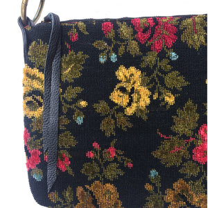 Slouchy Bag - Vintage Black Embroidery