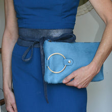 Load image into Gallery viewer, Ring Clutch - Blue Fur