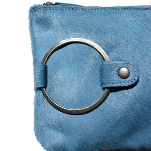 Ring Clutch - Blue Fur