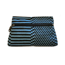 Load image into Gallery viewer, Cosmetic Bag - Blue & Black Optical 1980