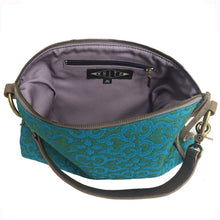 Load image into Gallery viewer, Slouchy Bag - Vintage Blue & Green Quilted