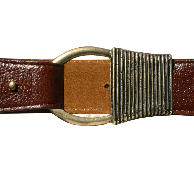 Cast Rope Belt - Cognac Leather