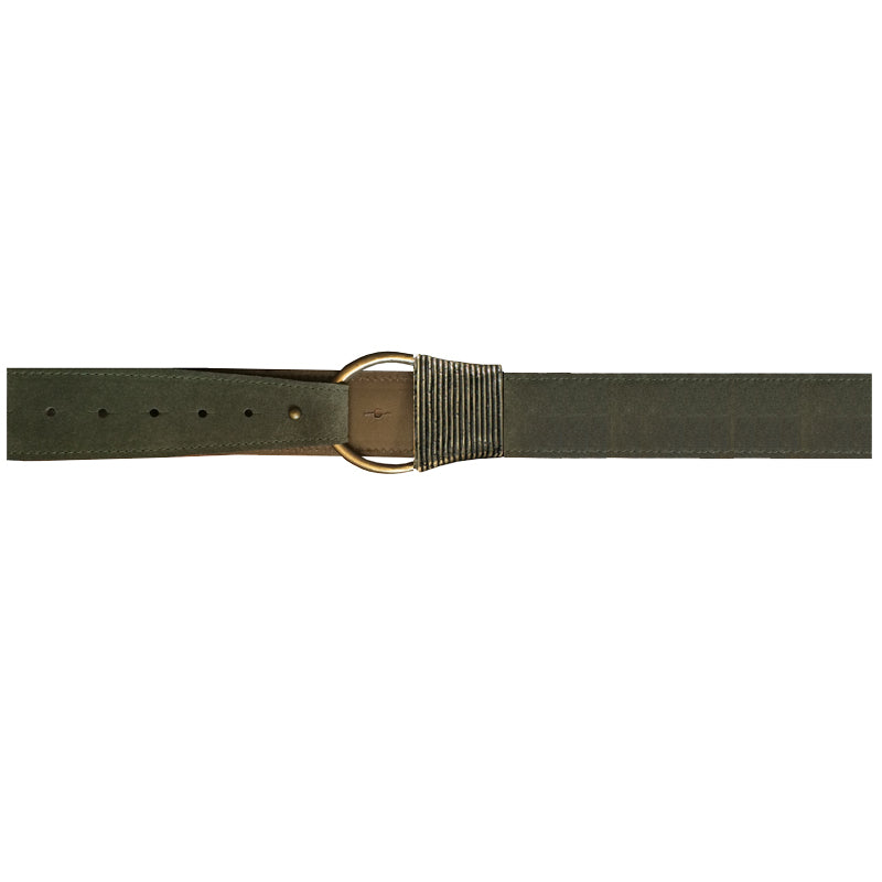 Cast Rope Belt - Loden Suede with Antique Brass