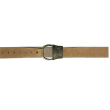 Load image into Gallery viewer, Cast Rope Belt - Tan Suede with Antique Brass