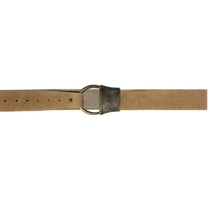 Cast Rope Belt - Tan Suede with Antique Brass