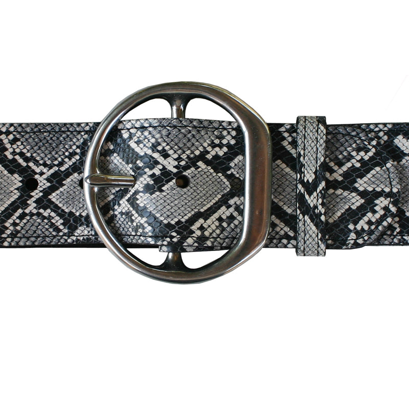 Big Chunky Waist Belt - B&W Snake
