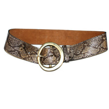 Load image into Gallery viewer, Big Chunky Waist Belt - Gold Metallic Snake