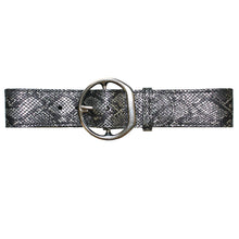 Load image into Gallery viewer, Big Chunky Waist Belt - Silver Metallic Snake