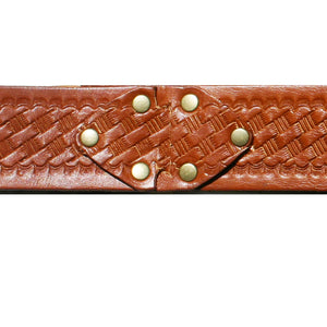 Interlock Embossed Belt - Cognac