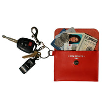 Load image into Gallery viewer, Coin Purse Key Chain - Cognac Snake
