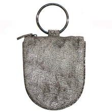Load image into Gallery viewer, Mini Ring Wristlet - Crackle White