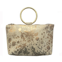 Load image into Gallery viewer, Ring Wristlet - Cream Metallic Splash
