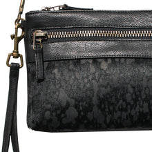 Load image into Gallery viewer, Double-Zip Bag with Two Straps - Black Fur