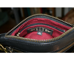 Double-Zip Bag with Two Straps - Pony