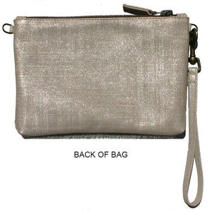 Double-Zip Bag with Two Straps - Ivory