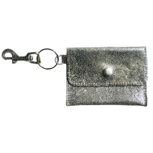 Coin Purse Key Chain - Antique Silver