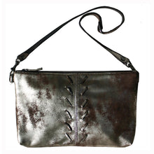Load image into Gallery viewer, Laced Detail Bag - Dull Brown Metallic