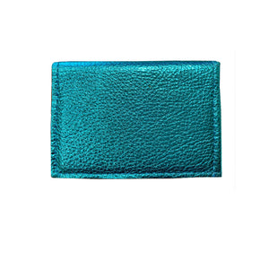 Folding Wallet - Electric Blue Metallic