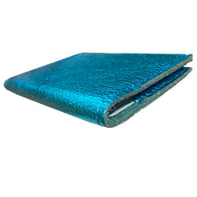 Load image into Gallery viewer, Folding Wallet - Electric Blue Metallic